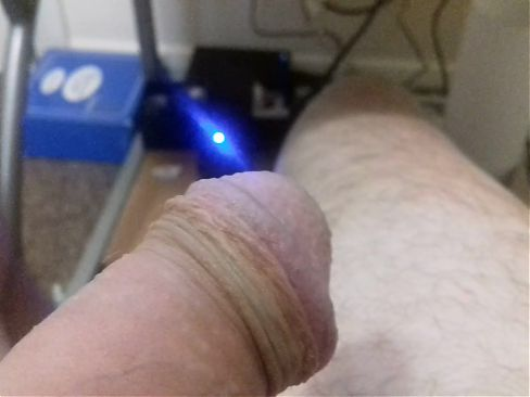 Me having a wank, nearly pulling the head of my cock !